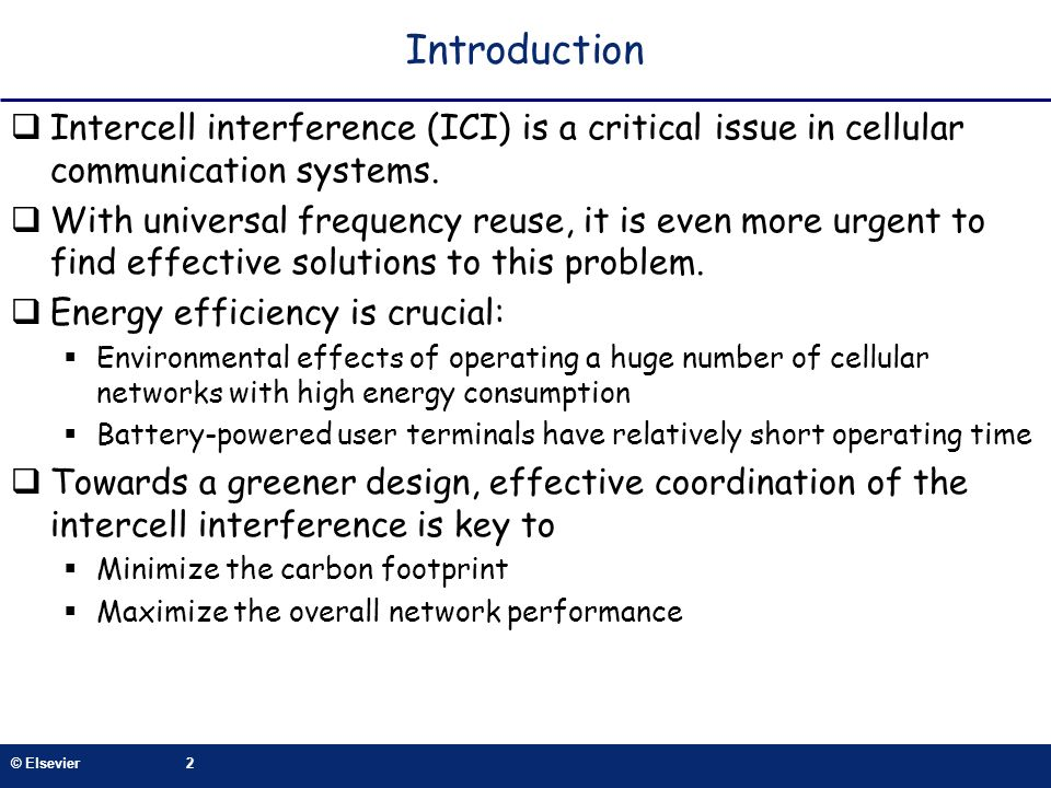 Introduction Intercell interference (ICI) is a critical issue in cellular communication systems.