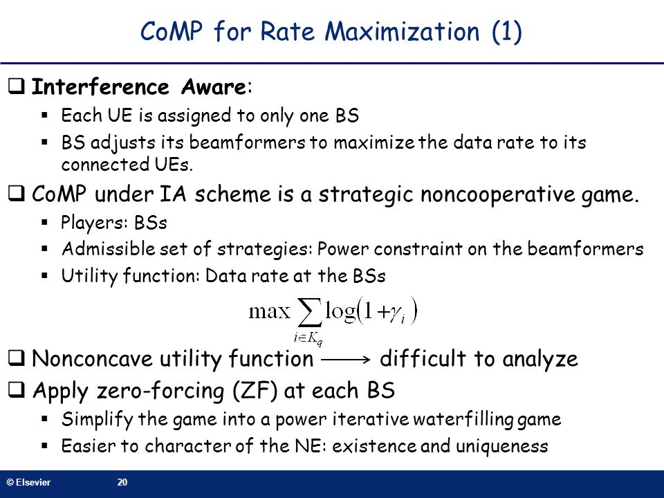 CoMP for Rate Maximization (1)