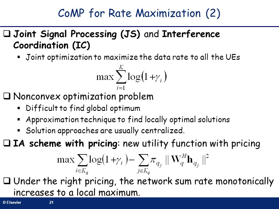 CoMP for Rate Maximization (2)