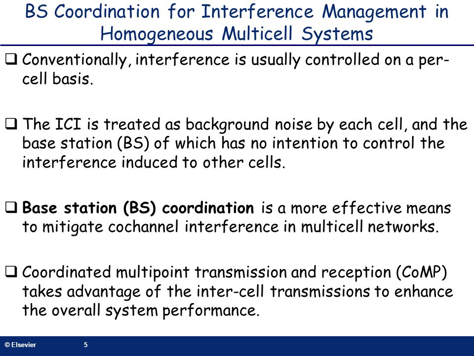 BS Coordination for Interference Management in Homogeneous Multicell Systems