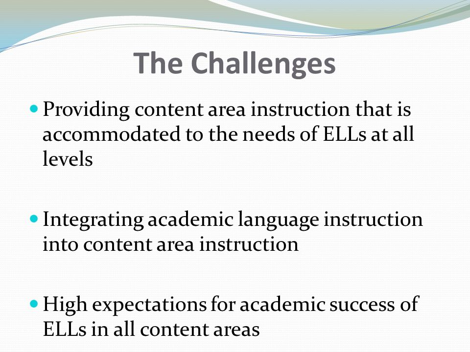 Sheltered Instruction For English Language Learners