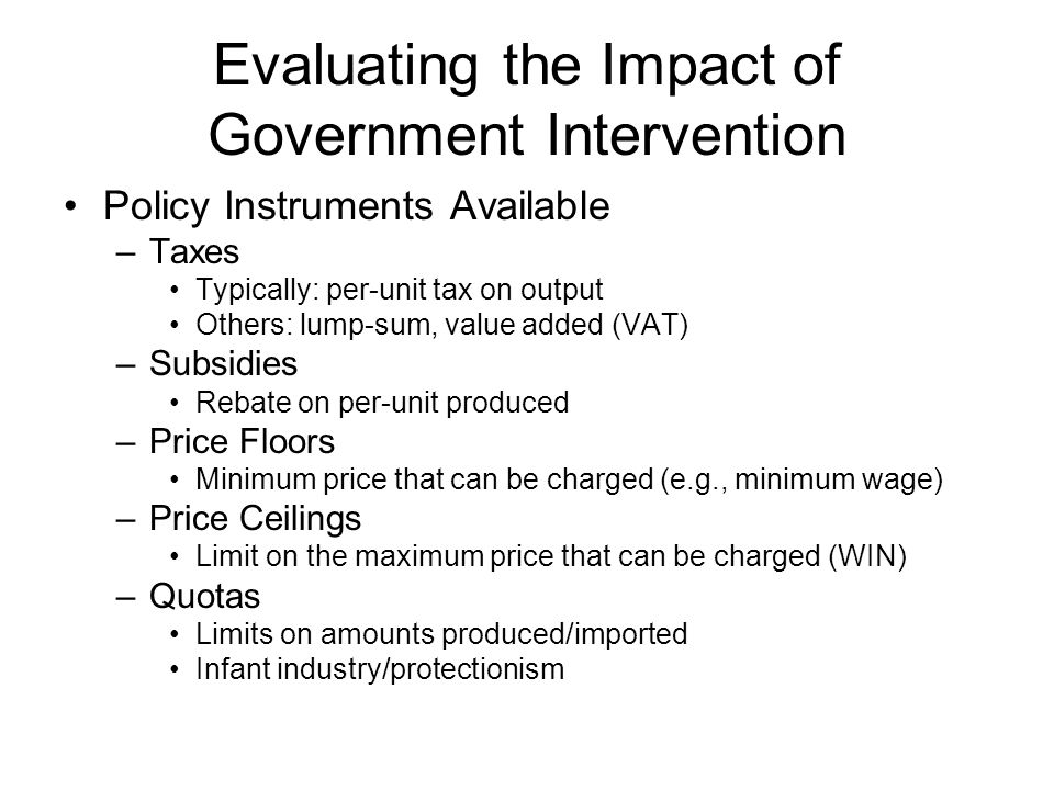 the effects of government intervention essay This essay will begin by  early intervention in  therefore the implications of government emphasis on early intervention is increasingly considering.