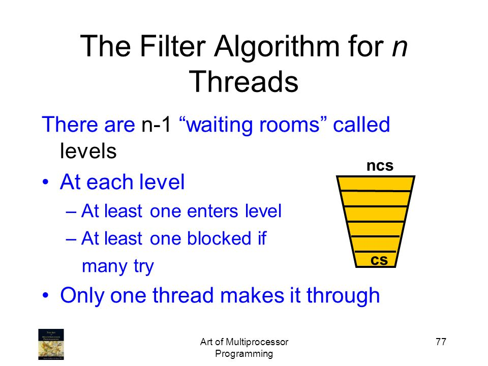 The Filter Algorithm for n Threads