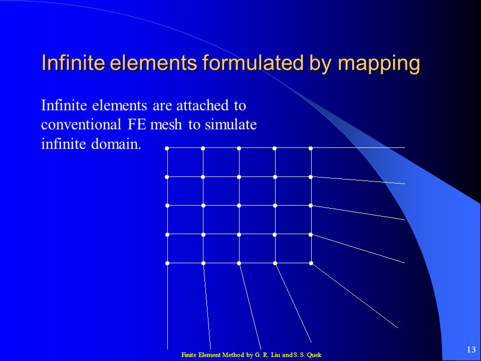 Infinite elements formulated by mapping