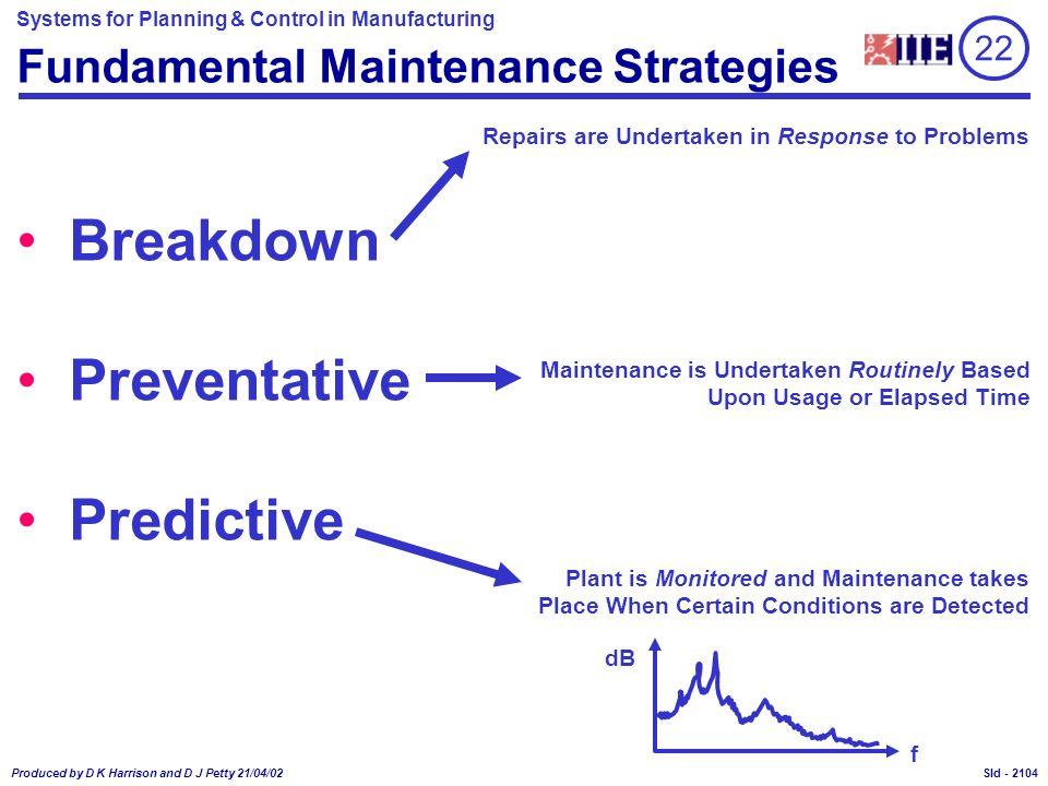 Fundamental Maintenance Strategies