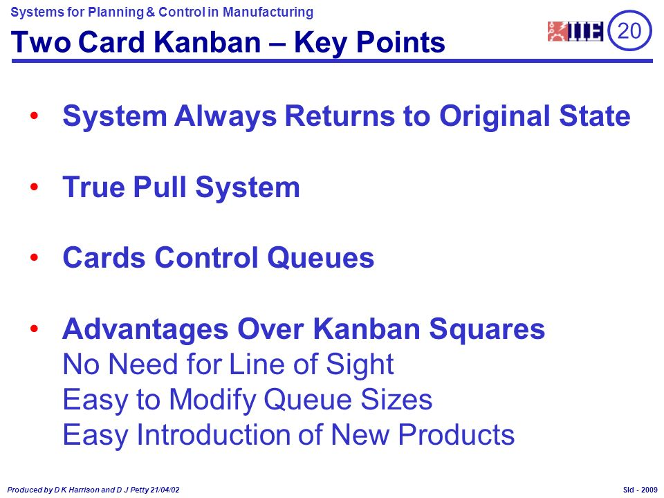 Two Card Kanban – Key Points