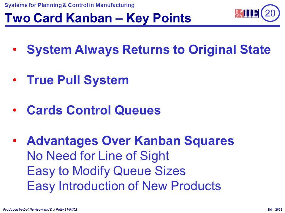 Two Card Kanban – Key Points