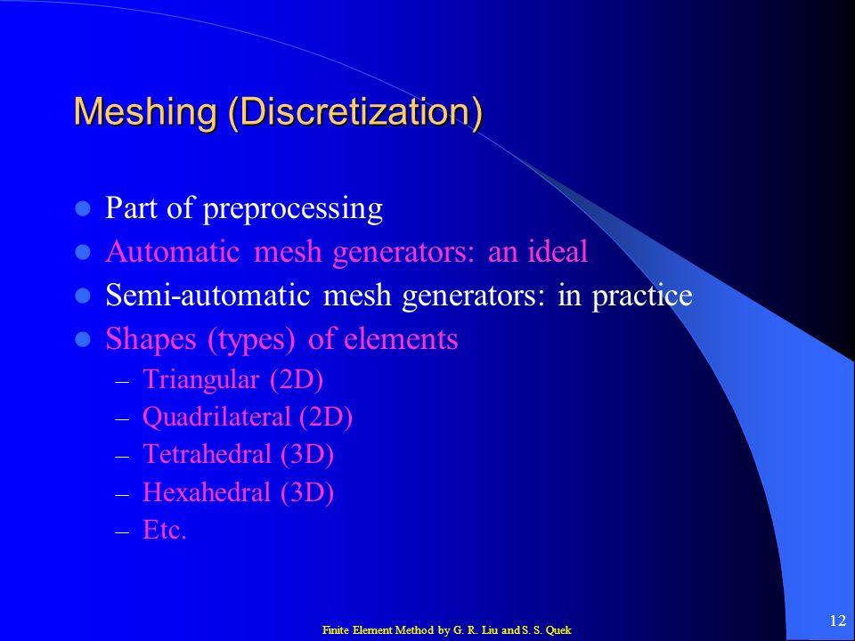 Meshing (Discretization)