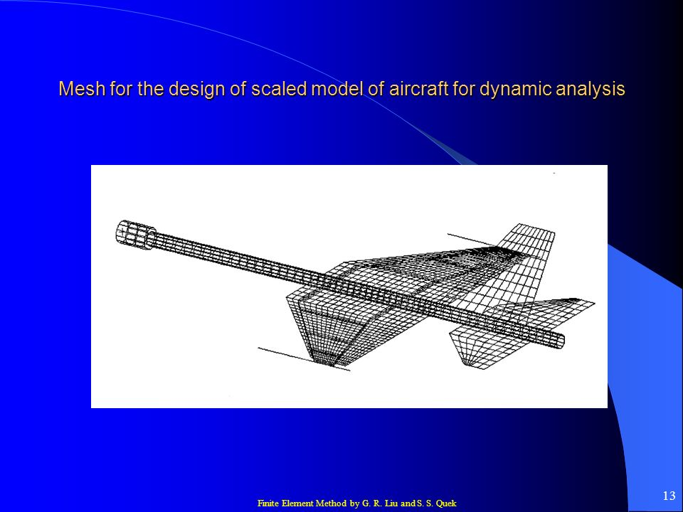 Mesh for the design of scaled model of aircraft for dynamic analysis