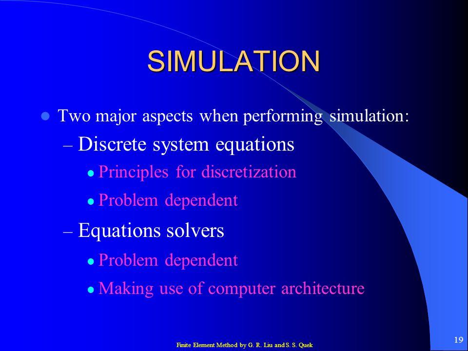SIMULATION Discrete system equations Equations solvers
