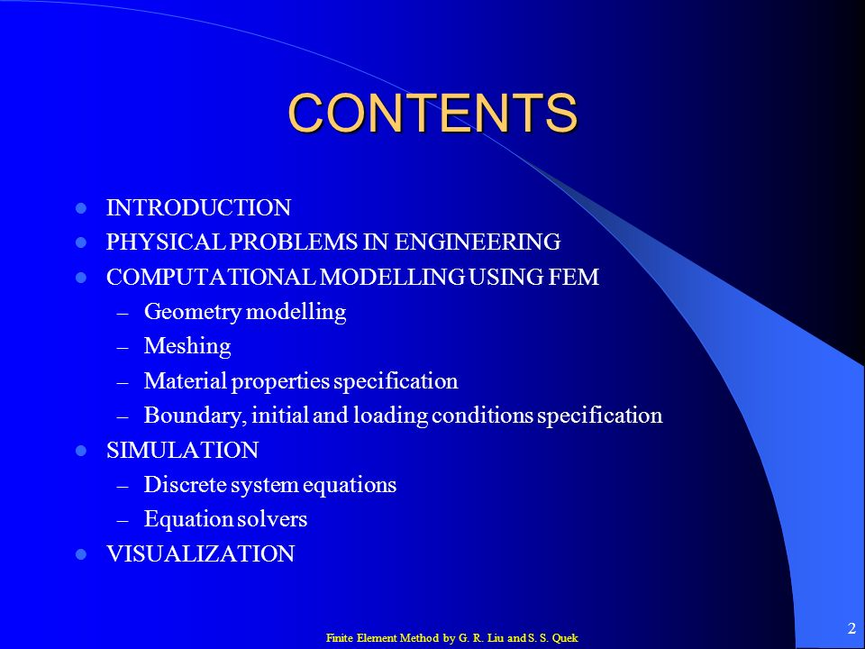 CONTENTS INTRODUCTION PHYSICAL PROBLEMS IN ENGINEERING