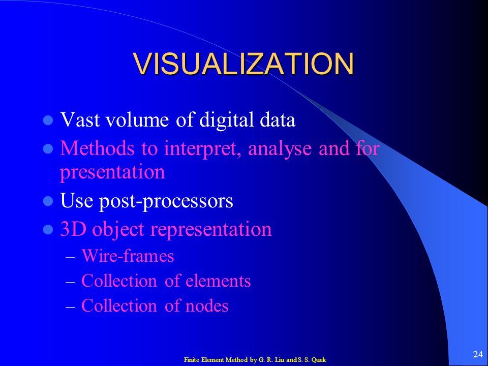 VISUALIZATION Vast volume of digital data
