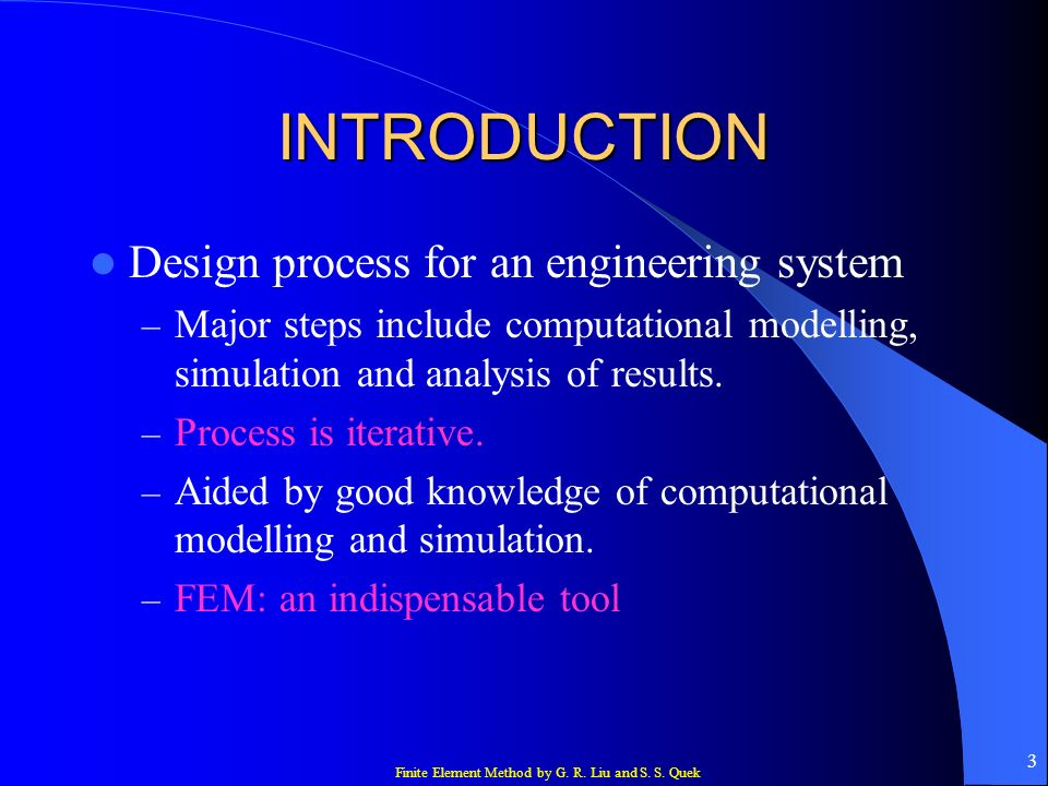 INTRODUCTION Design process for an engineering system