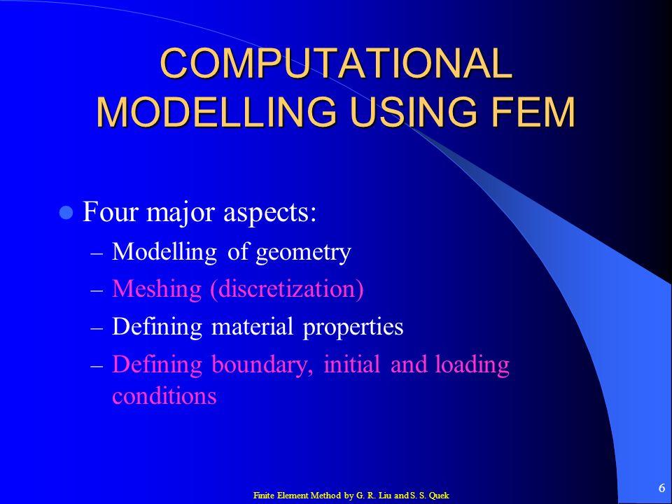 COMPUTATIONAL MODELLING USING FEM