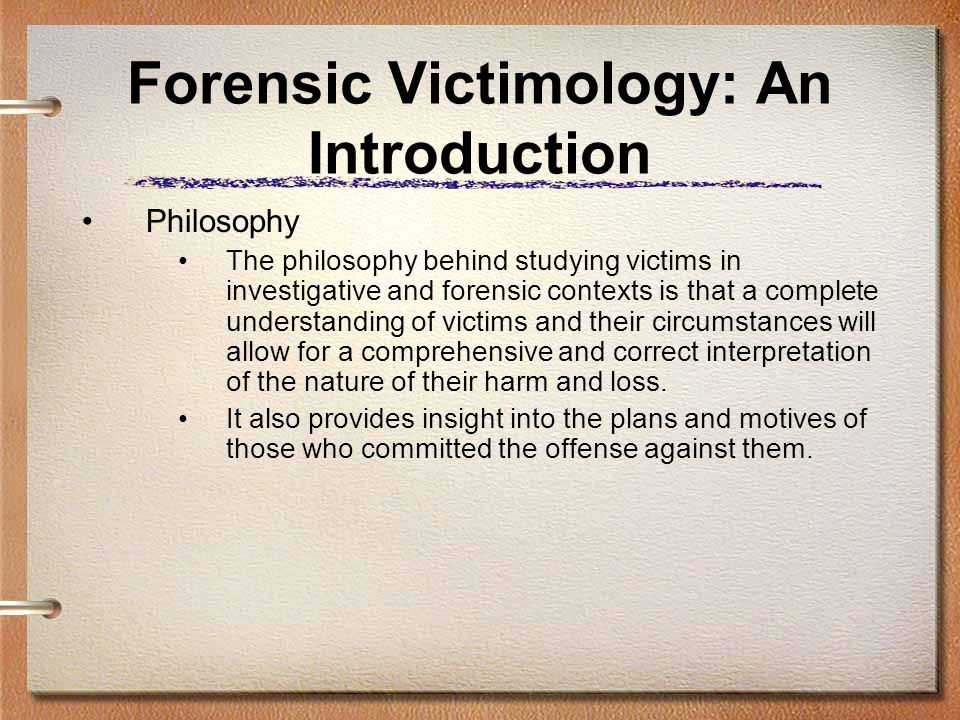 Forensic Victimology: An Introduction