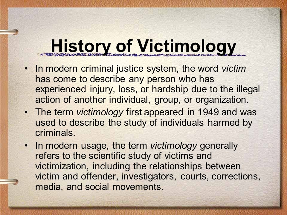 History of Victimology