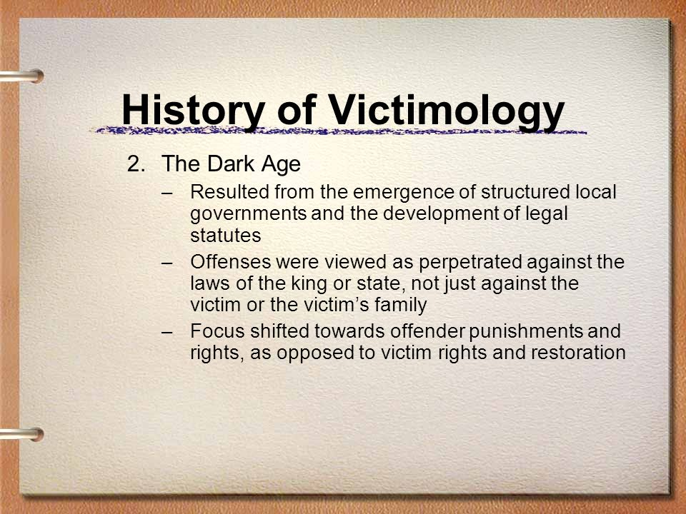 History of Victimology