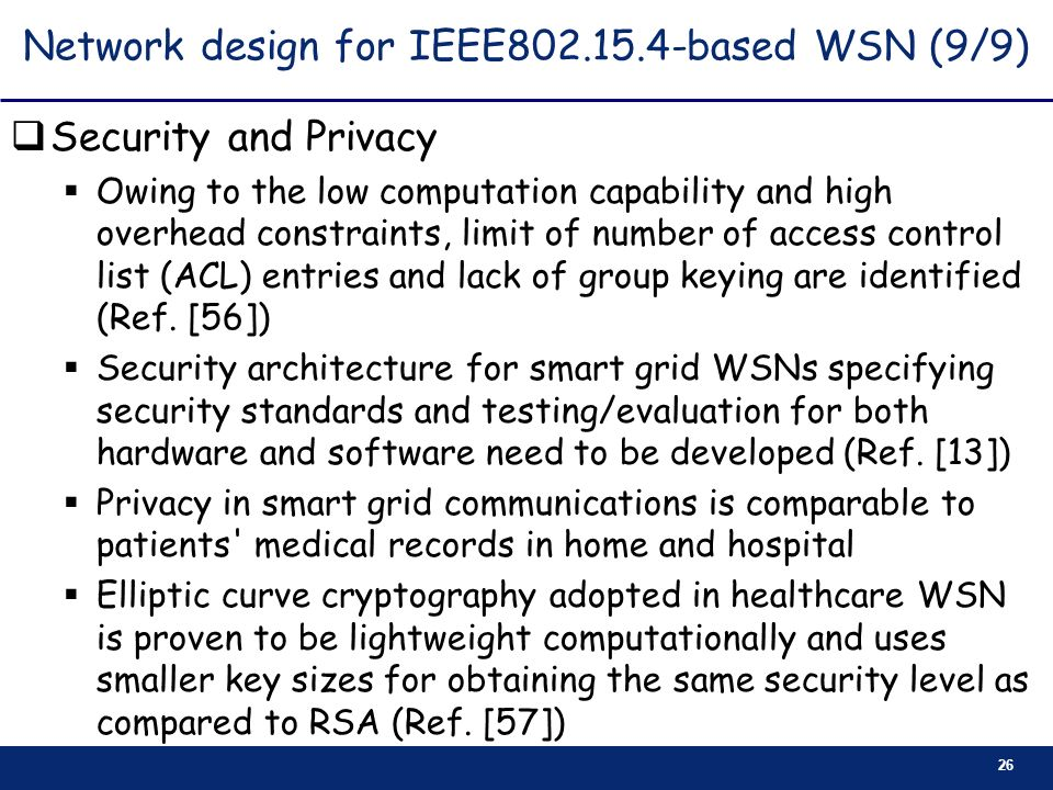 Network design for IEEE based WSN (9/9)