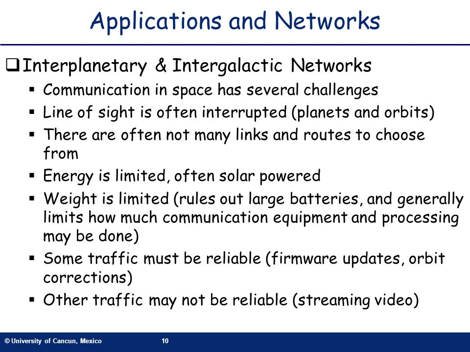 Applications and Networks