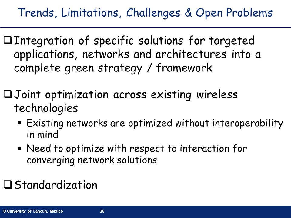 Trends, Limitations, Challenges & Open Problems