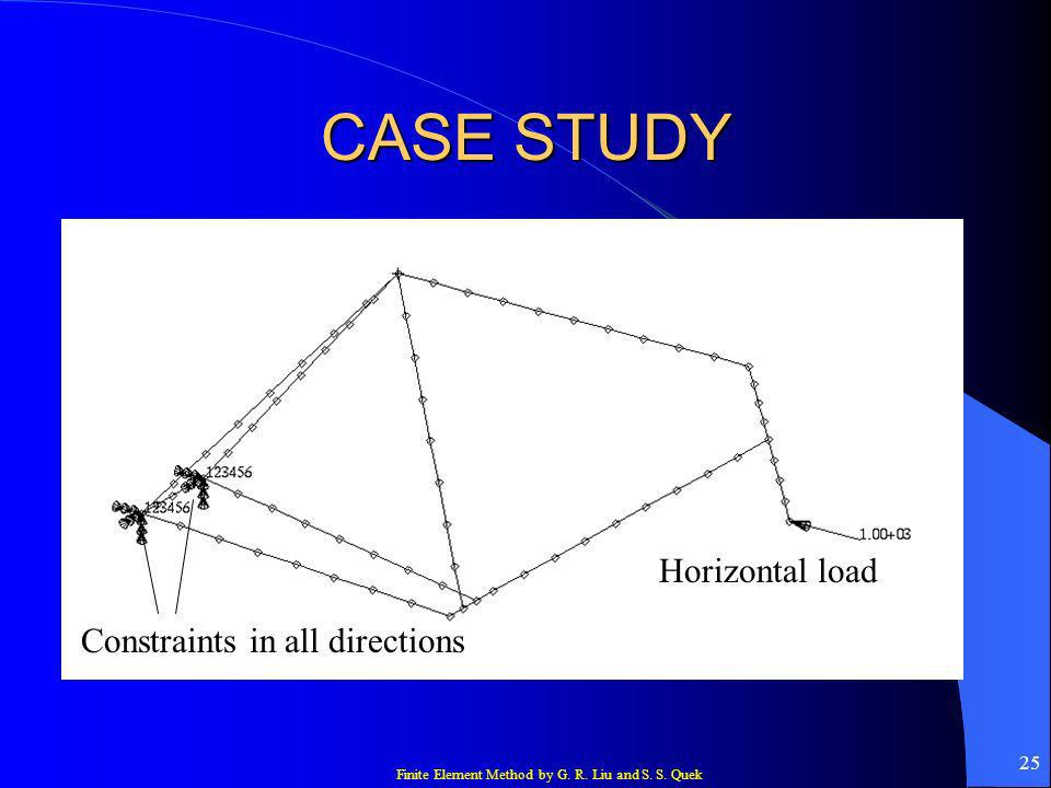 CASE STUDY Horizontal load Constraints in all directions