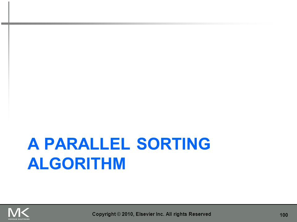 A parallel sorting algorithm