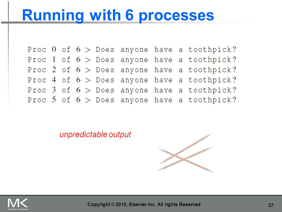 Running with 6 processes