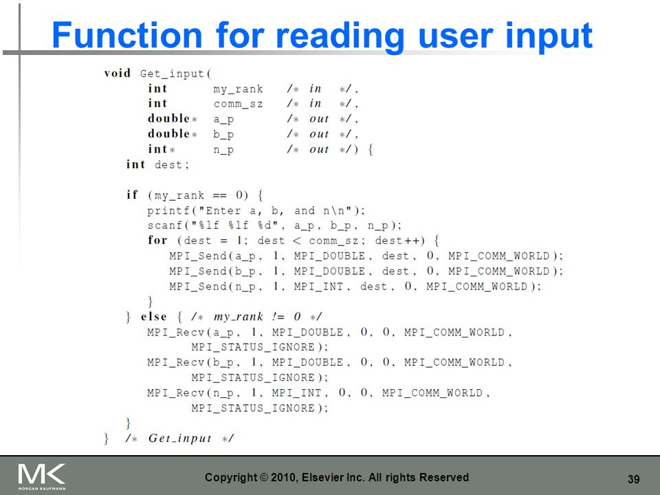 Function for reading user input