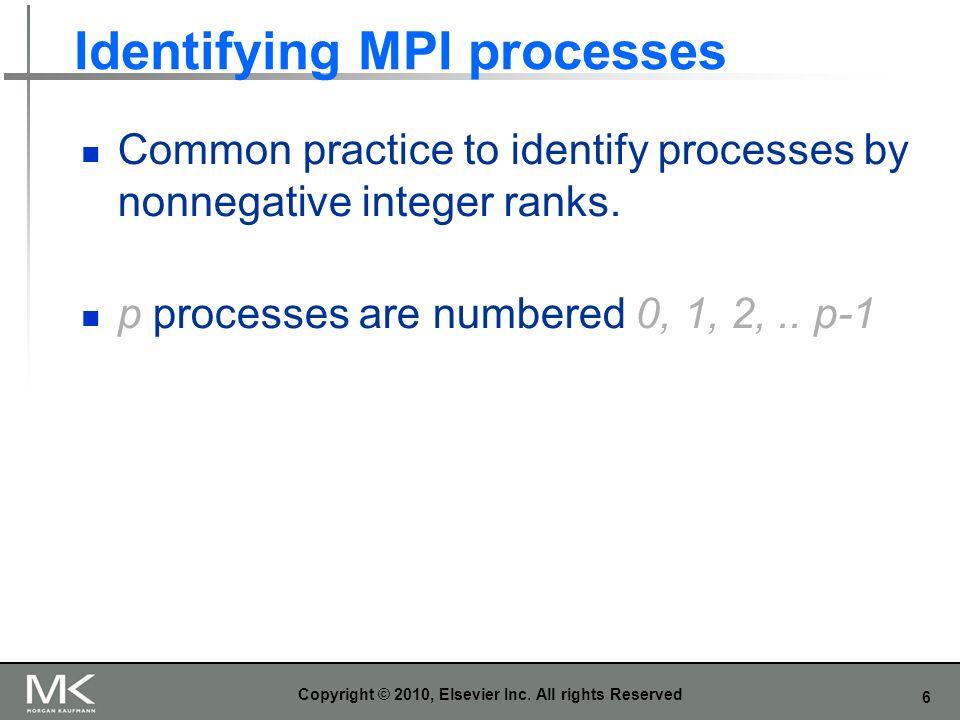 Identifying MPI processes
