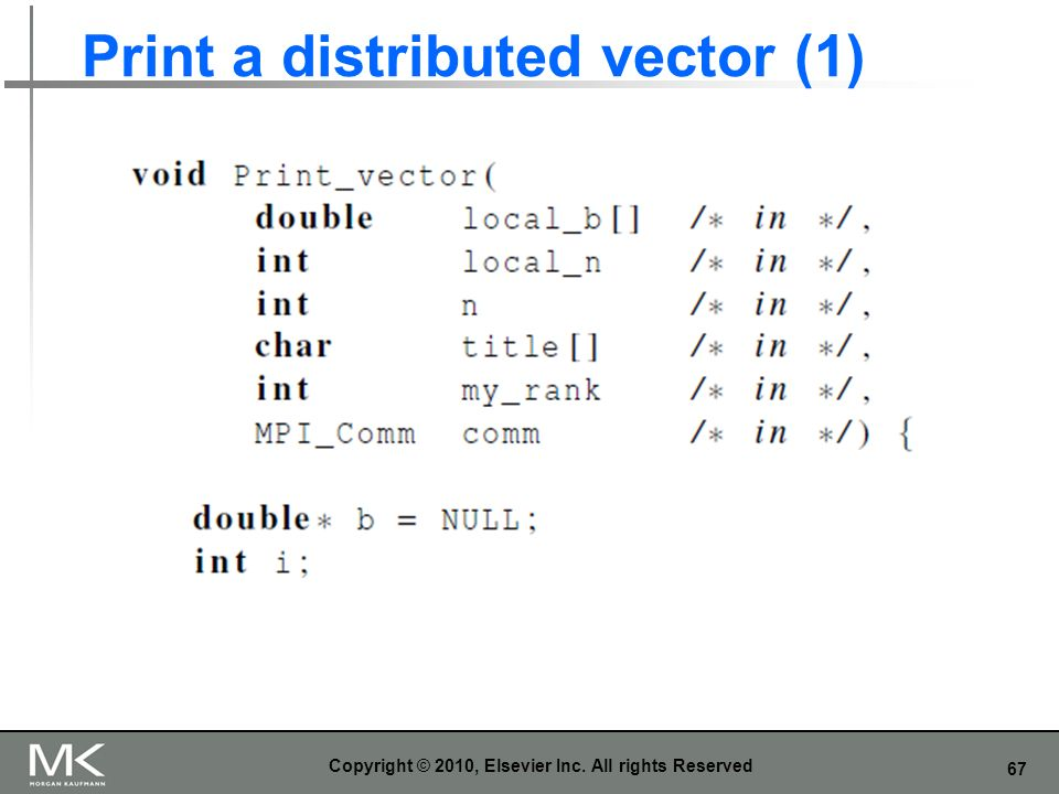Print a distributed vector (1)