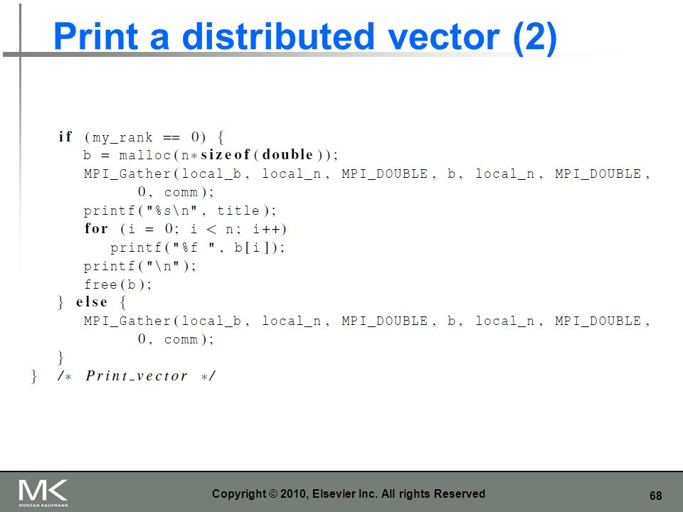 Print a distributed vector (2)