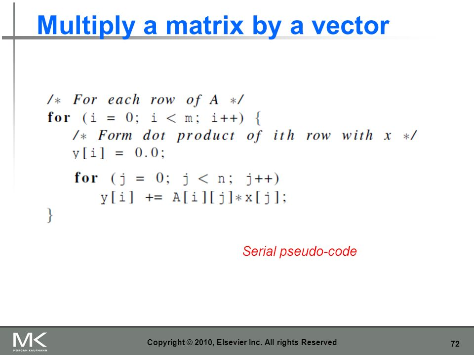 Multiply a matrix by a vector