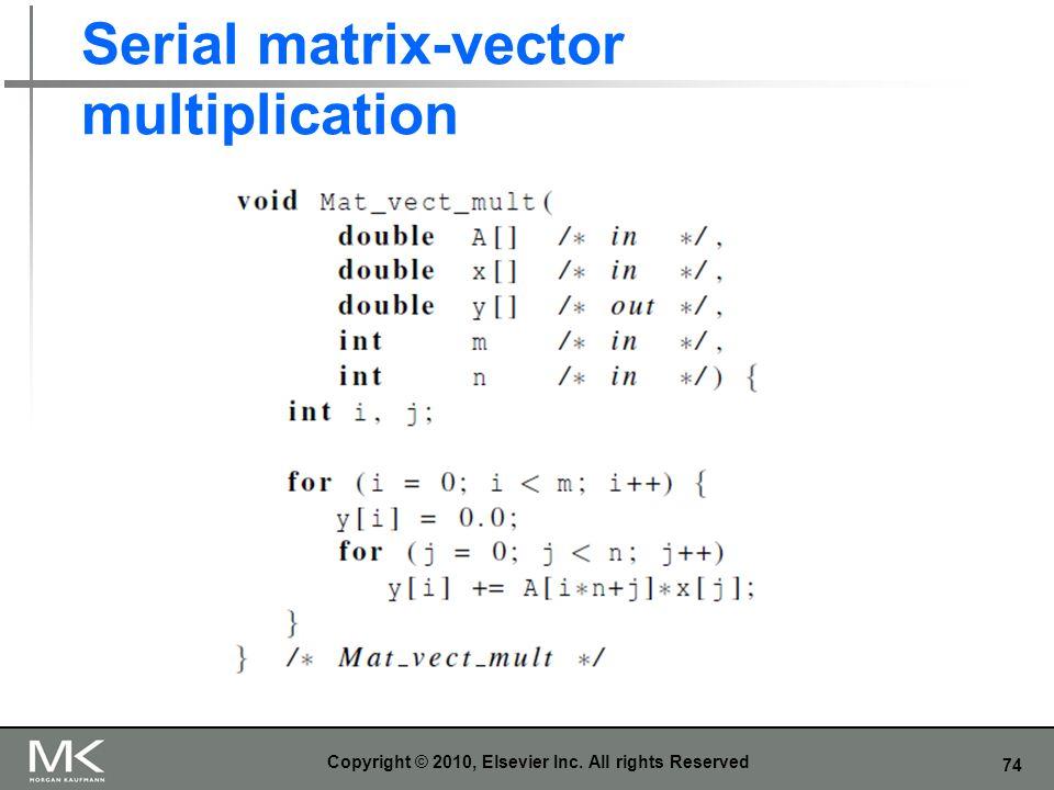 Serial matrix-vector multiplication