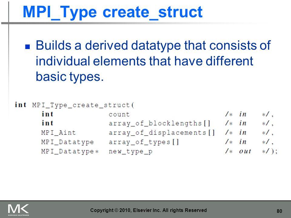 MPI_Type create_struct