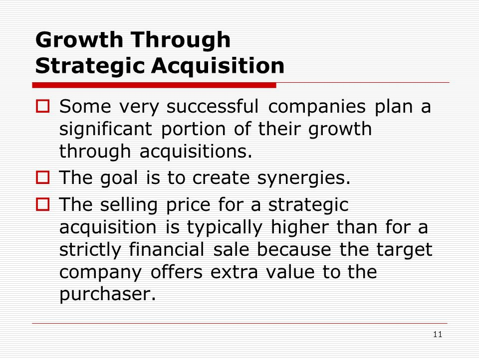 Growth Through Strategic Acquisition