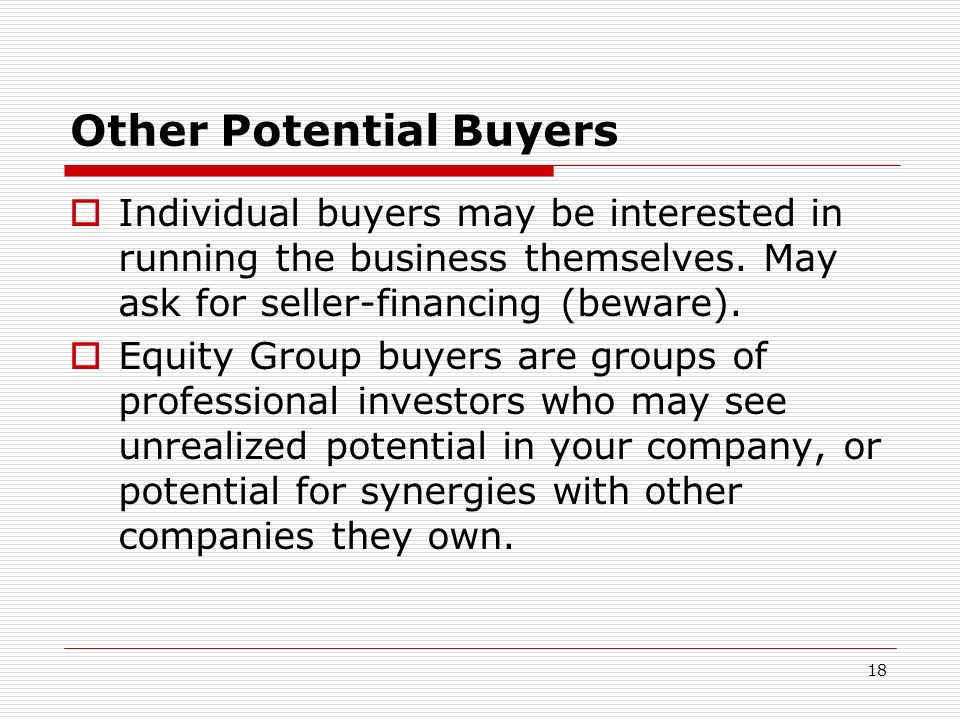 Other Potential Buyers