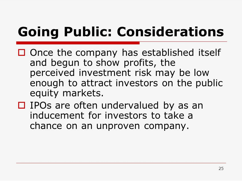 Going Public: Considerations