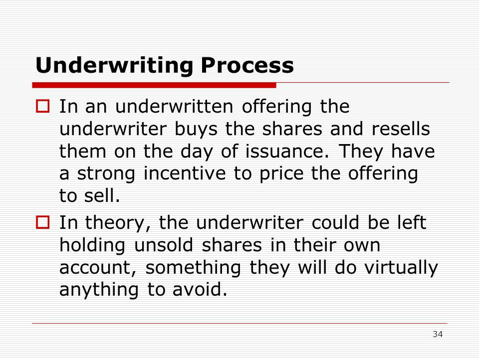 Underwriting Process