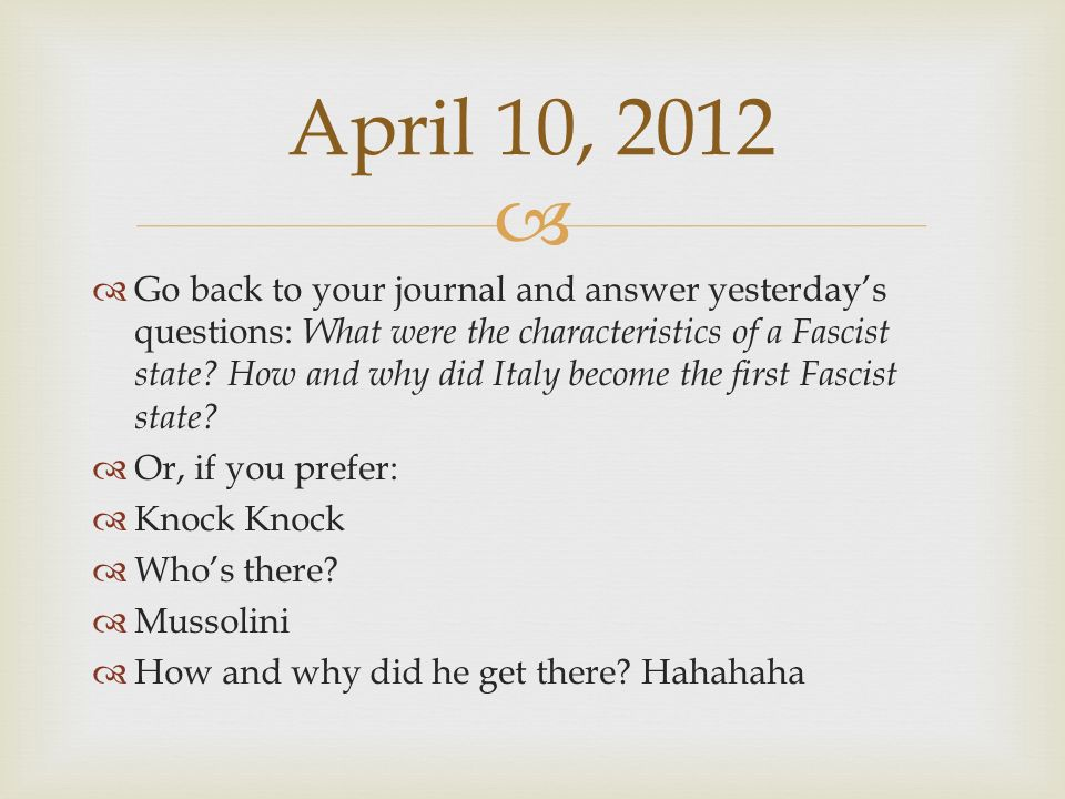 April 10, 2012