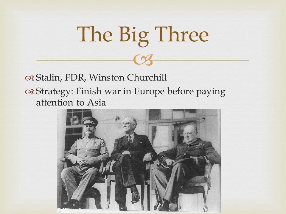 The Big Three Stalin, FDR, Winston Churchill