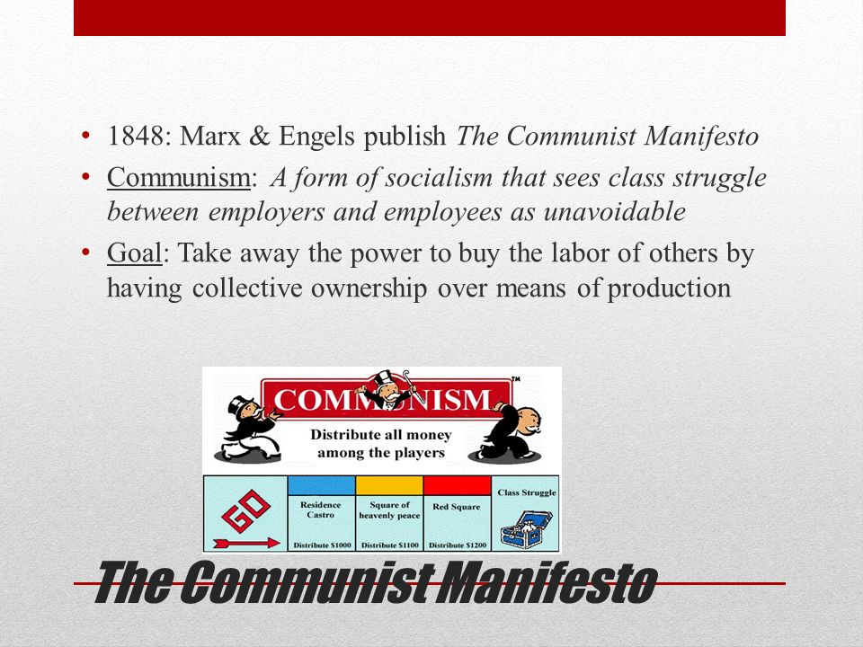 an examination of the theories and goals of a communist society by karl marx and friedrich engels in Karl marx was born on may 5, 1818, in the city of trier to a jewish family they later converted to protestantism marx himself became an atheist and an anti-theist karl marx was the founder of modern communist thought along with friedrich engels.