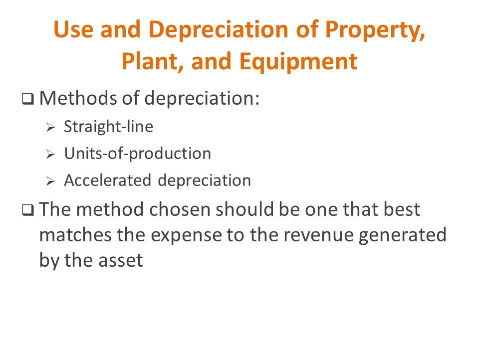 The Advantages of Accelerated Depreciation