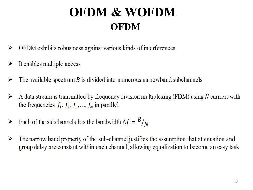 OFDM & WOFDM OFDM