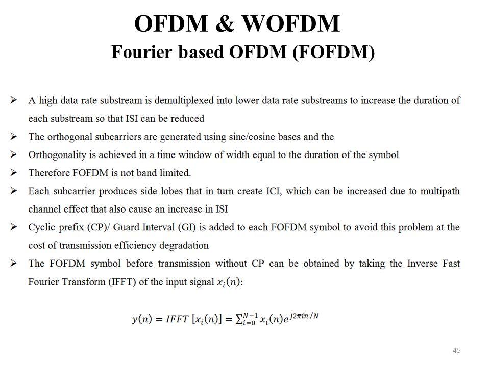 Fourier based OFDM (FOFDM)