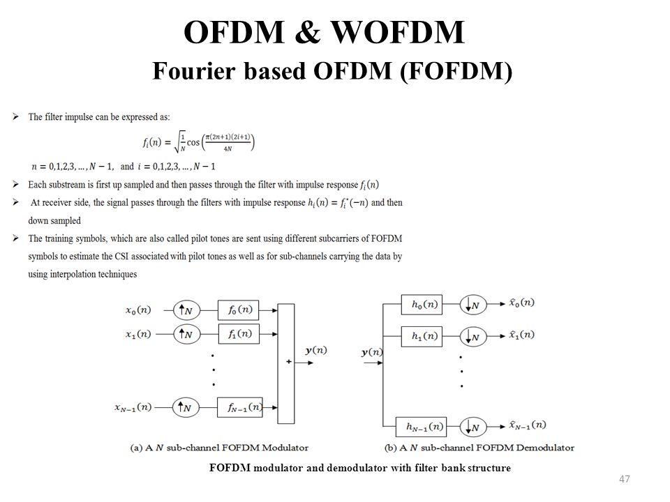 OFDM & WOFDM Fourier based OFDM (FOFDM)