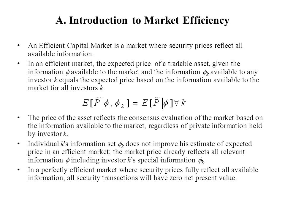 A. Introduction to Market Efficiency