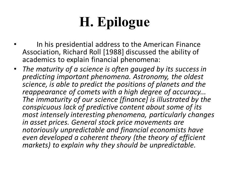 H. Epilogue