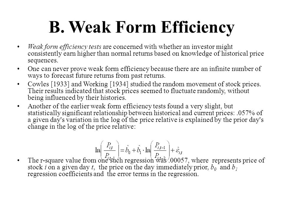 B. Weak Form Efficiency
