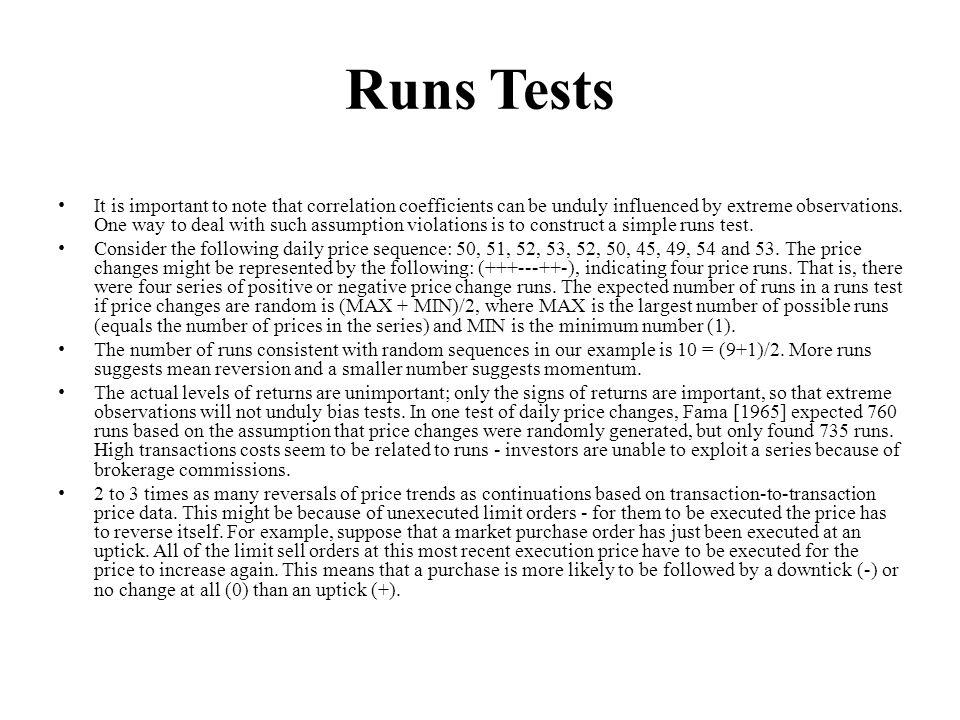 Runs Tests