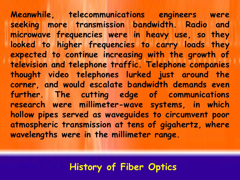 broadband transport history of fiber Emcore designs and manufactures the most complete and advanced line of optical components and systems for catv broadband transport and access networks we were the first to implement linear fiber optic transmission for the cable industry and we continue to develop leading-edge technologies for cable hfc networks.